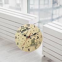 Подарунок до дня закоханих дерев'яний годинник, подарок на день святого Валентина, деревянные часы