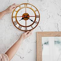 Класичний дерев'яний настінний годинник, мінімалістичний