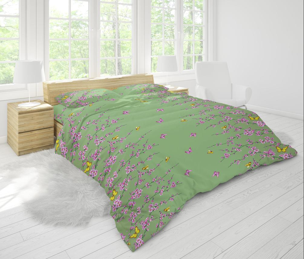 Ткань для постельного белья бязь Голд - Цветы 02
