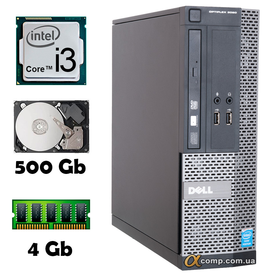 Компьютер Dell 3020 (i3-4130/4Gb/500Gb) desktop БУ