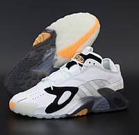 Мужские кроссовки Adidas Streetball White Gray Orange белые с серым. Фото в живую. Реплика