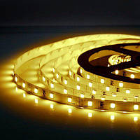 5м Світлодіодна LED стрічка 60smd 2835 12v Теплий білий, негерметична