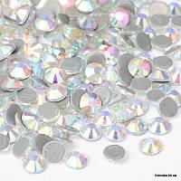 Стразы Термоклеевые, Стекло, Круглые, Граненые, Класс AA, 2.7~2.8 мм, Цвет: AB Кристалл (144 шт.)