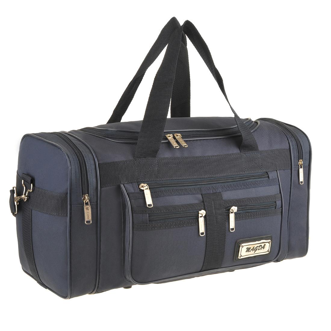 Дорожная сумка MAGDA 25х45х21 ткань полиэстер 600Д цвет синий  кс18син