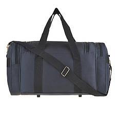 Дорожная сумка MAGDA 25х45х21 ткань полиэстер 600Д цвет синий  кс18син, фото 2