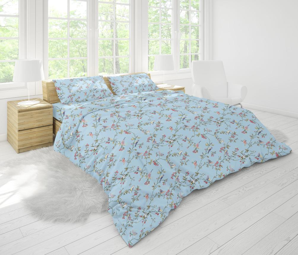 Ткань для постельного белья бязь Голд - Птицы 01