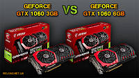 Какая разница между NVIDIA GeForce GTX 1060 3GB и GeForce GTX 1060 6GB