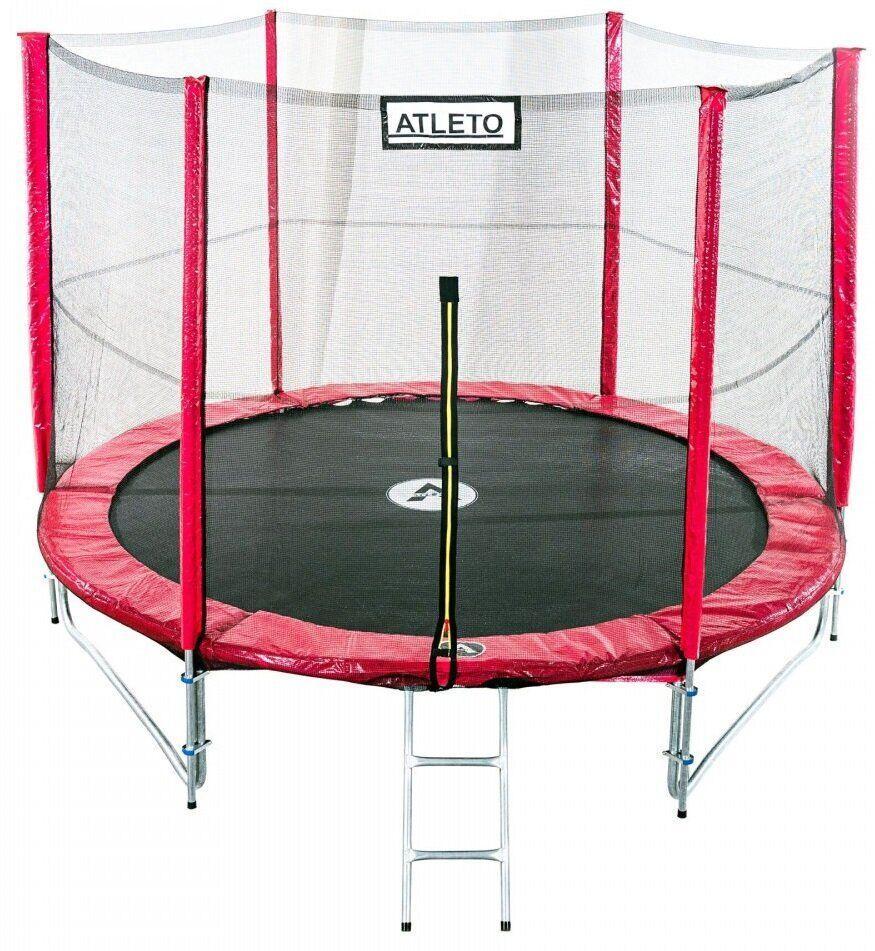 Батут діаметром 465 см з подвійними ногами з сіткою + сходи оснащений 90 оцинкованими пружинами