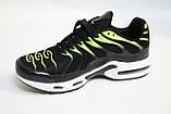 Мужские кроссовки сетка, черные с ярко-салатовыми вставками. Чоловічі кросівки сітка, чорні з салатовим, фото 2