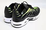 Мужские кроссовки сетка, черные с ярко-салатовыми вставками. Чоловічі кросівки сітка, чорні з салатовим, фото 3