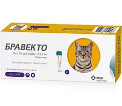 Краплі Bravecto Spot On від бліх та кліщів для кішок 1.2-2.8 кг