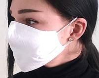 Маска защитная Пита белая для лица (4-х слойная для лица многоразовая), фото 1