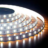 5м Світлодіодна LED стрічка Premium 60smd 5630 12v Біла, негерметична