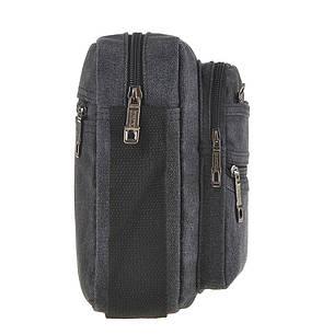 Мужская сумка HONGYUNDA горизонтальная 20х24х9 материал брезент ксФ1519ч, фото 2