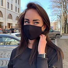 Защитная 3-х слойная тканевая многоразовая маска из хлопка