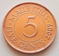 Маврикий 5 центов 2007