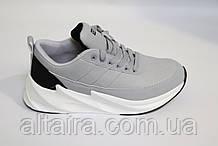 Кроссовки мужские светло-серые. Размеры 44, 45, Чоловічі кросівки світло-сірі.