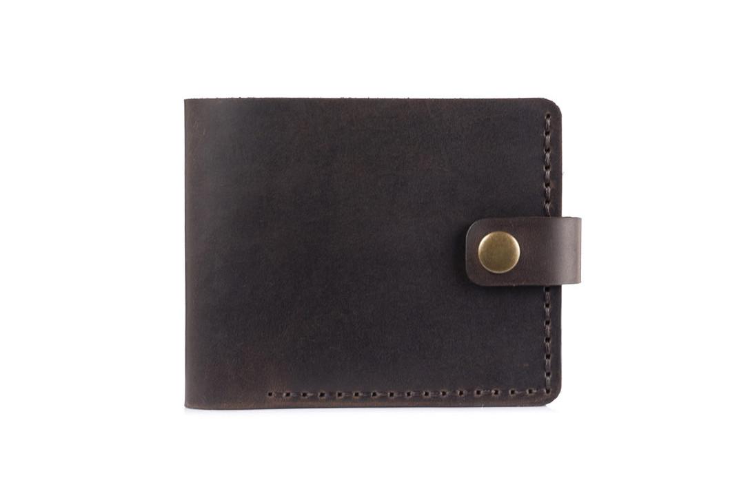 Кожаный женский кошелек Compact шоколад