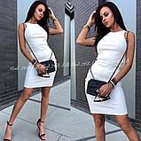 Элегантное платье по фигуре без рукавов идеально подчеркнет достоинства фигуры,3цвета. р.44-46 Код А-268З, фото 2