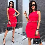 Элегантное платье по фигуре без рукавов идеально подчеркнет достоинства фигуры,3цвета. р.44-46 Код А-268З, фото 3