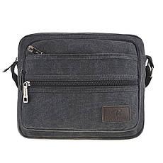 Мужская сумка HONGYUNDA горизонтальная 20х24х9 материал брезент ксФ1519ч, фото 3