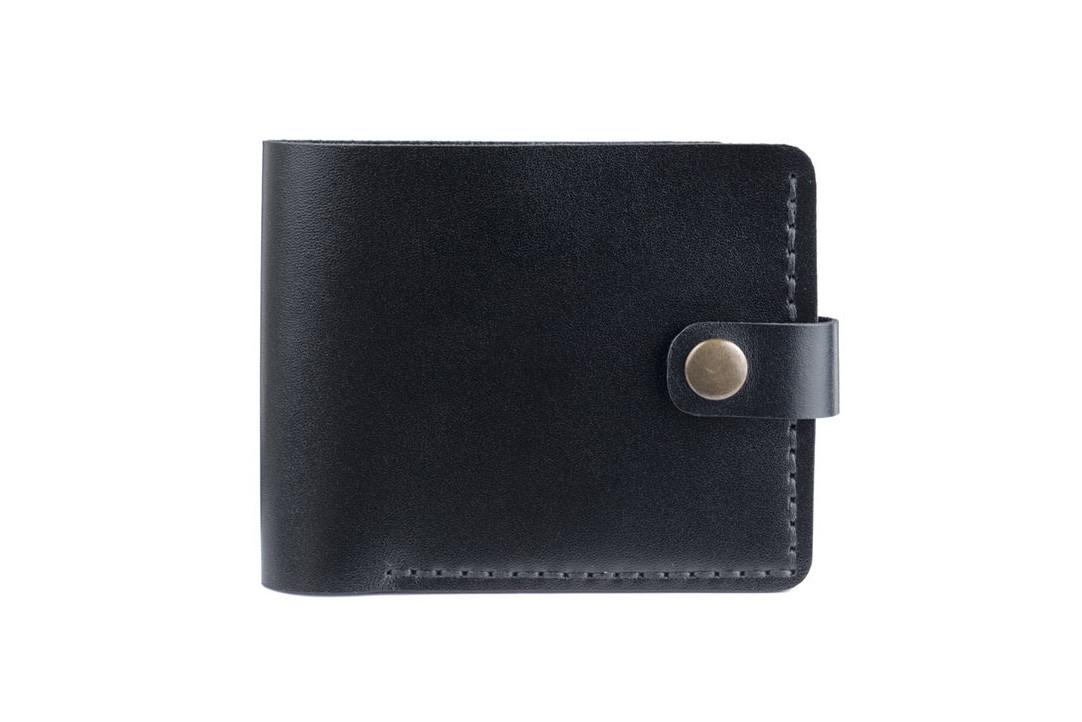 Кожаный женский кошелек Compact черный