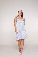 Летнее шёлковое платье в цветочек для беременных и кормящих 42-48 р