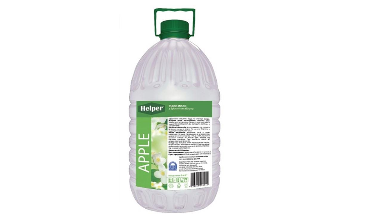 Helper рідке мило  с ароматом  яблука 4,95 л