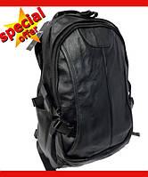 Мужской кожаный городской рюкзак Leadhake, черный, міський рюкзак