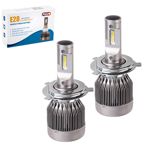 Лампи PULSO E28/LED/H4 P43T H/L/Flip Chip/12-24V/36W/3800Lm/6000K