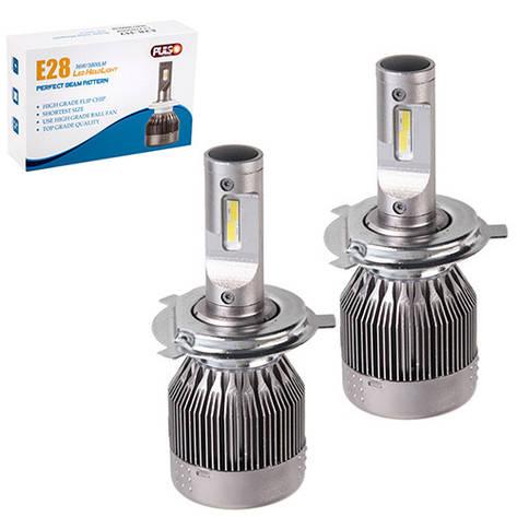 Лампи PULSO E28/LED/H4 P43T H/L/Flip Chip/12-24V/36W/3800Lm/6000K, фото 2