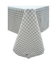 Скатертина на стіл Bella Сіра клітинка 85*85 см