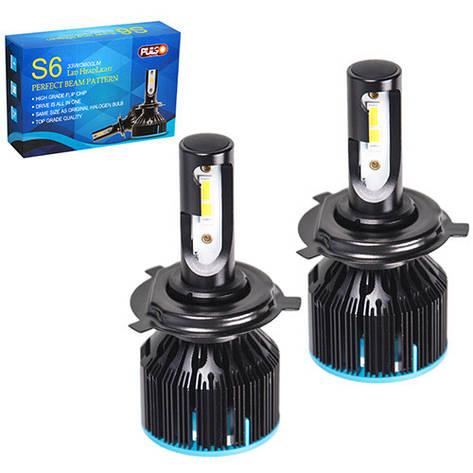 Лампи PULSO S6/LED/H4-H/L/Flip Chip/12-24V/33W/3600Lm/6000K, фото 2
