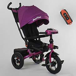 Трехколесный велосипед с поворотным сиденьем Best Trike 6088 F - 08-202 Фиолетовый, надувные колеса, с фарой