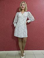 Нарядное коктейльное кружевное платье-футляр-мини, белое, на запах, вечернее, на свадьбу и выпускной