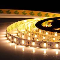 5м Світлодіодна LED стрічка Premium 60smd 5630 12v Тепла біла, негерметична