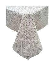 Скатертина на стіл Bella Сірий Вітраж 85*85 см