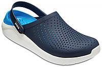 Летние кроксы Crocs LiteRide™ Clog темно-синие