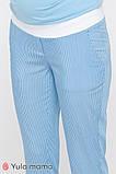 Брюки для беременных MELANI TR-20.013 полоска бело-голубая, фото 4