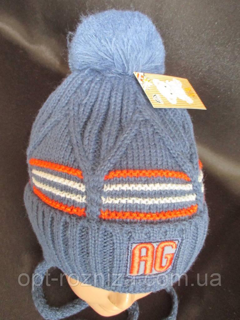 Теплые зимние шапки плотной вязки.