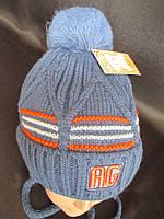 Теплые зимние шапки плотной вязки., фото 1