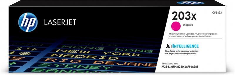 Картридж HP 203X CLJ M280/M281/M254 Magenta (CF543X)