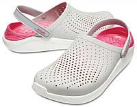 Кроксы летние Crocs LiteRide™ Clog серые, фото 1