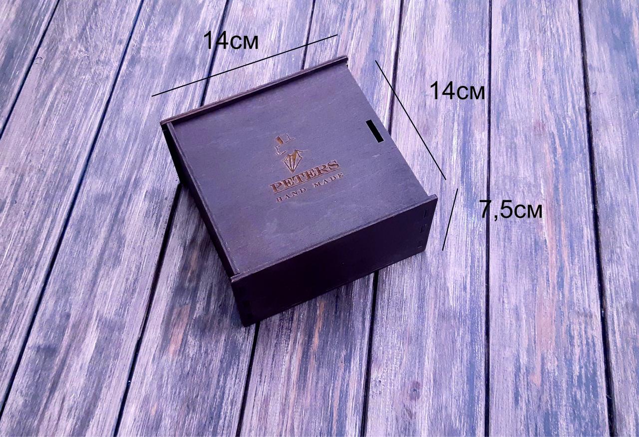 Коробка подарочная с фанеры высшего сорта, Дуб 14x14x7,5