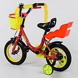 Велосипед детский двухколесный 12 красный Corso 1294, фото 2