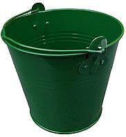 "Ведро декоративное 2 литра оцинкованное зеленое порошковое покрытие RAL ""Метид"""