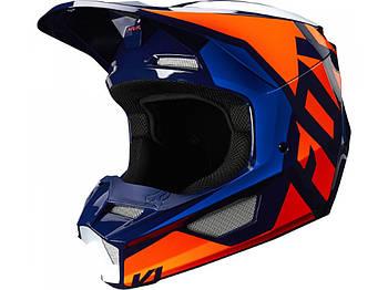 Мотошлем FOX V1 PRIX HELMET [ORANGE BLUE] M *
