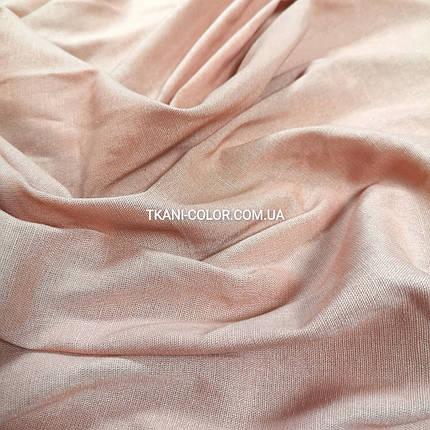 Ткань лён стрейч пудра, фото 2