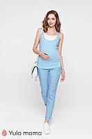 Летние голубые брюки для беременных MELANI TR-20.013, Юла мама, фото 1