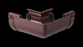 Кут внутрішній 90 град. жолоба Profil Д=130мм, колір коричневий